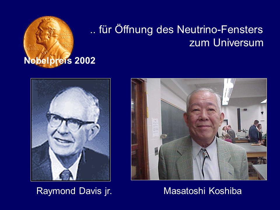 .. für Öffnung des Neutrino-Fensters zum Universum