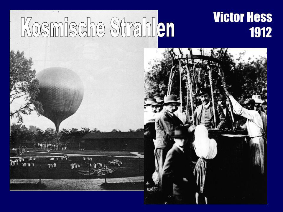 Victor Hess 1912 Kosmische Strahlen