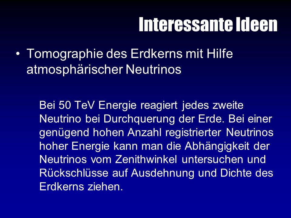 Interessante Ideen Tomographie des Erdkerns mit Hilfe atmosphärischer Neutrinos.