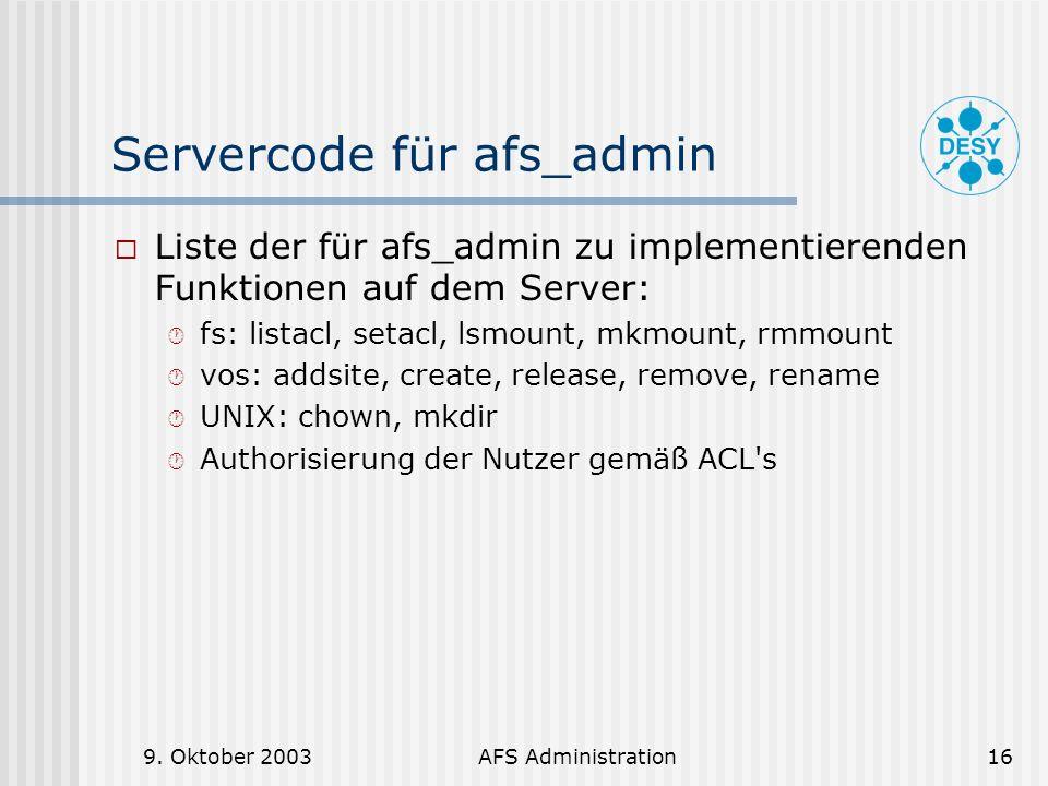 Servercode für afs_admin