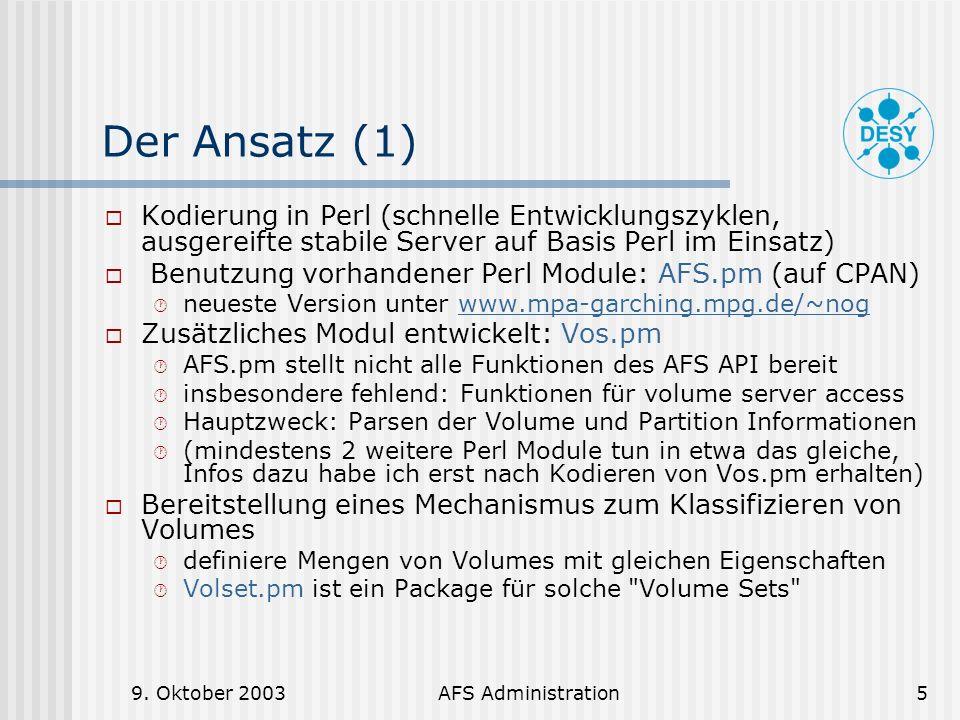 Der Ansatz (1) Kodierung in Perl (schnelle Entwicklungszyklen, ausgereifte stabile Server auf Basis Perl im Einsatz)