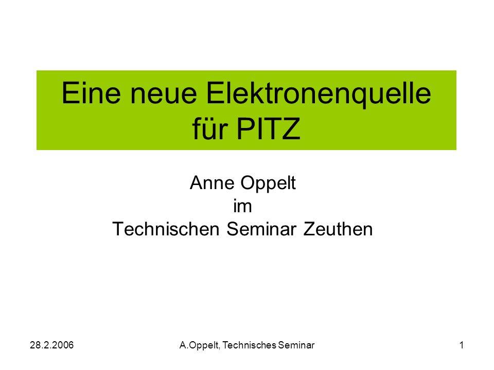 Eine neue Elektronenquelle für PITZ