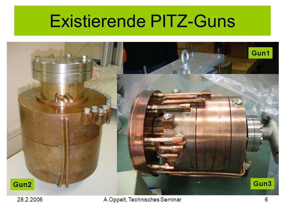 Existierende PITZ-Guns