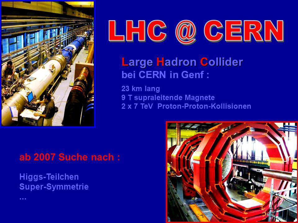 Large Hadron Collider bei CERN in Genf : ab 2007 Suche nach :