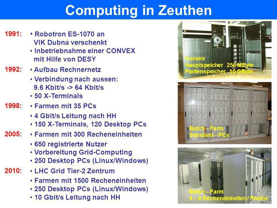 Computing in Zeuthen Robotron ES-1070 an 1991: VIK Dubna verschenkt