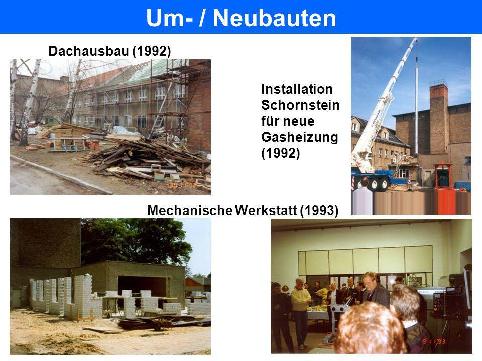 Um- / Neubauten Dachausbau (1992) Installation Schornstein für neue