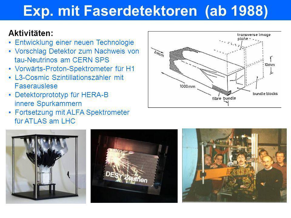 Exp. mit Faserdetektoren (ab 1988)