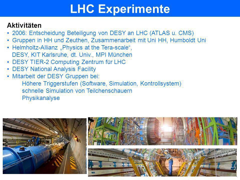 LHC Experimente Aktivitäten