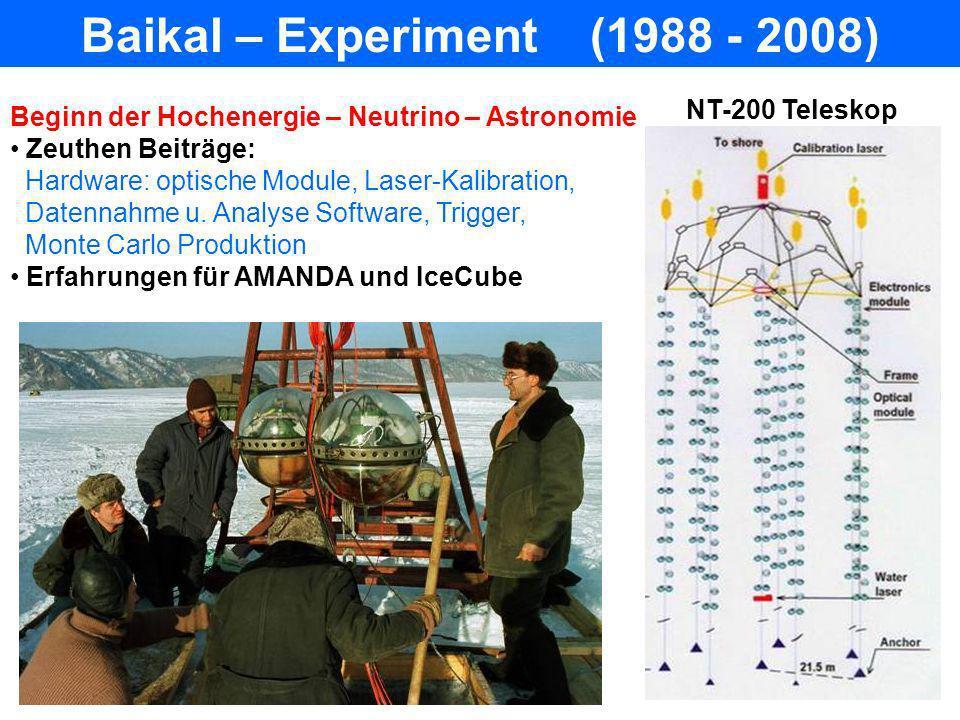 Baikal – Experiment (1988 - 2008)