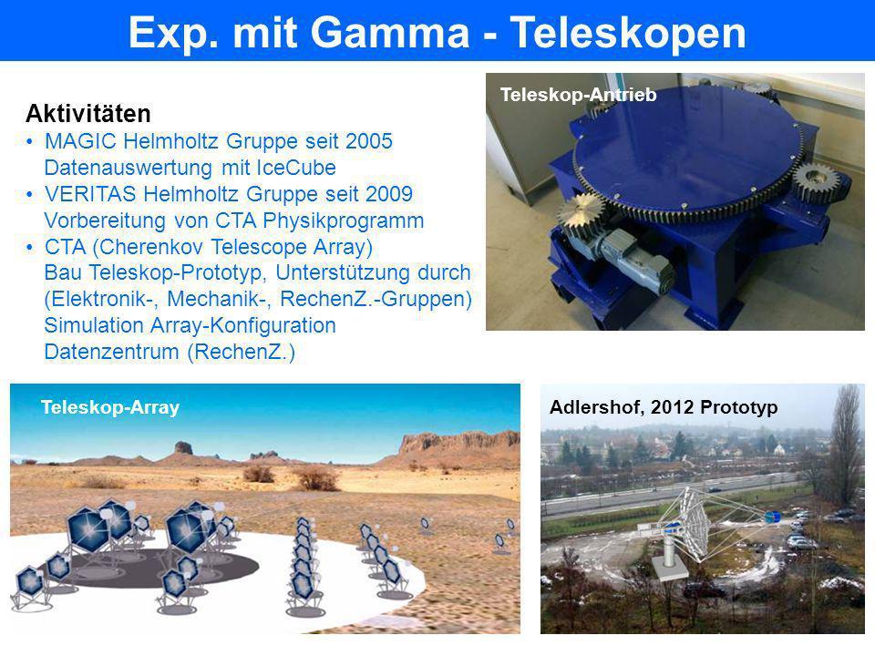 Exp. mit Gamma - Teleskopen
