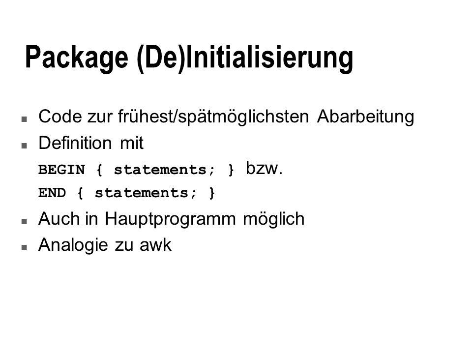 Package (De)Initialisierung