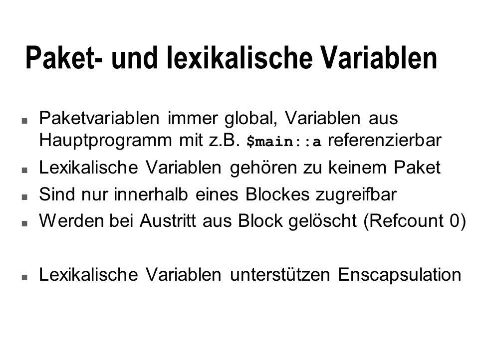 Paket- und lexikalische Variablen