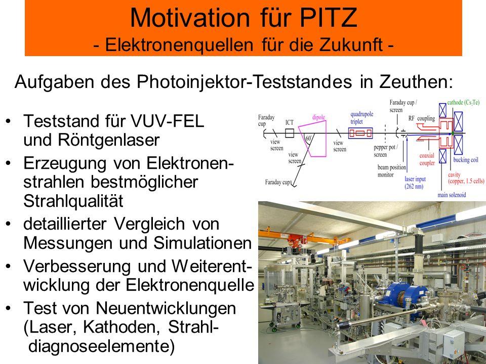 Motivation für PITZ - Elektronenquellen für die Zukunft -
