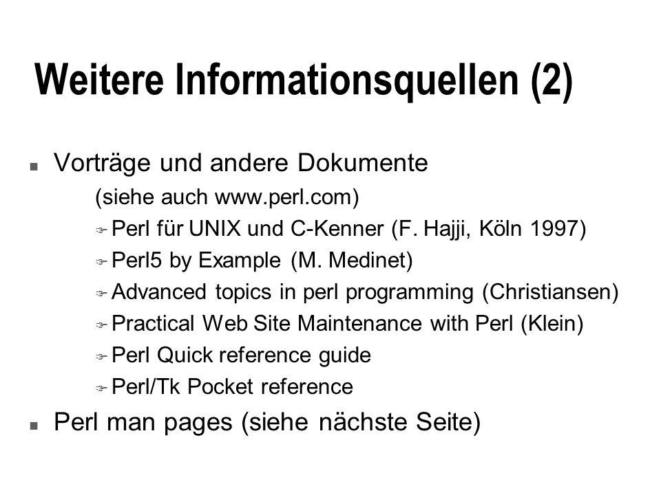 Weitere Informationsquellen (2)