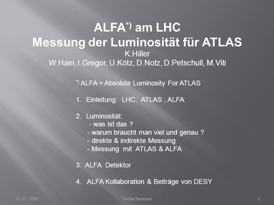 Messung der Luminosität für ATLAS