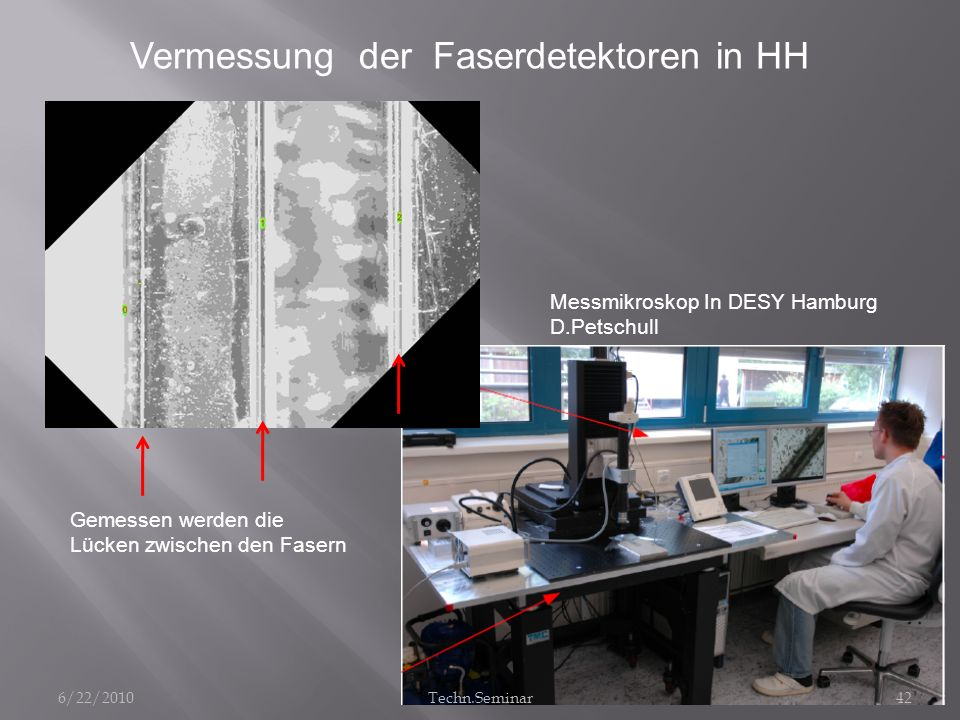 Vermessung der Faserdetektoren in HH