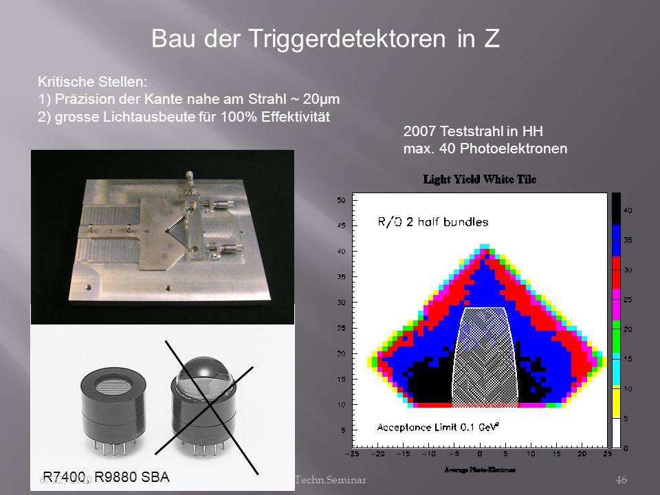Bau der Triggerdetektoren in Z