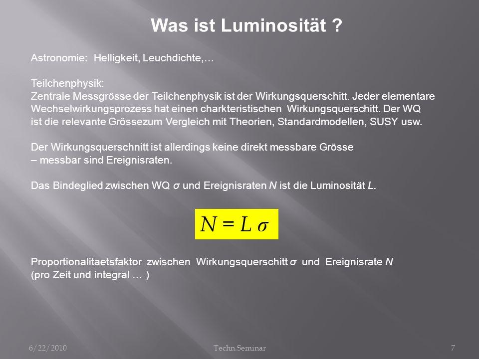 N = L σ Was ist Luminosität Astronomie: Helligkeit, Leuchdichte,…