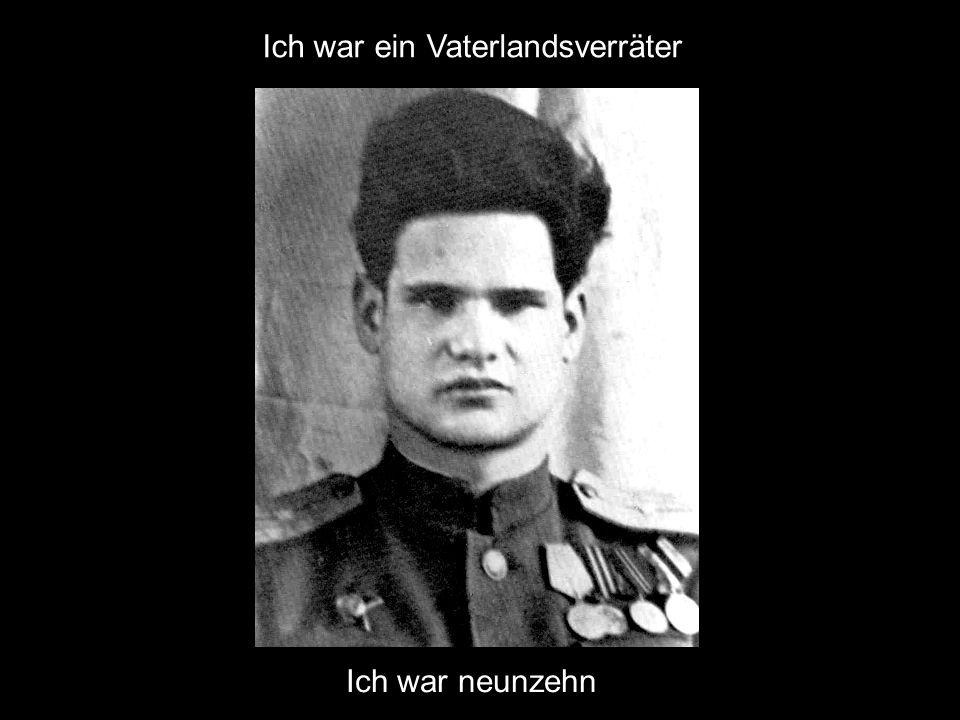 Ich war ein Vaterlandsverräter