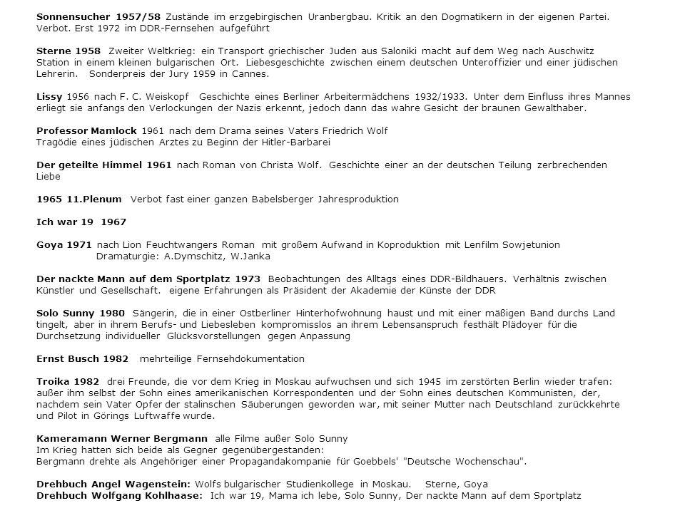 Sonnensucher 1957/58 Zustände im erzgebirgischen Uranbergbau