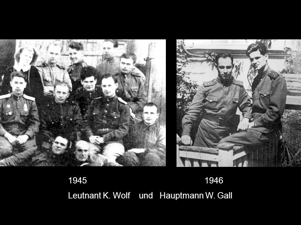 Leutnant K. Wolf und Hauptmann W. Gall
