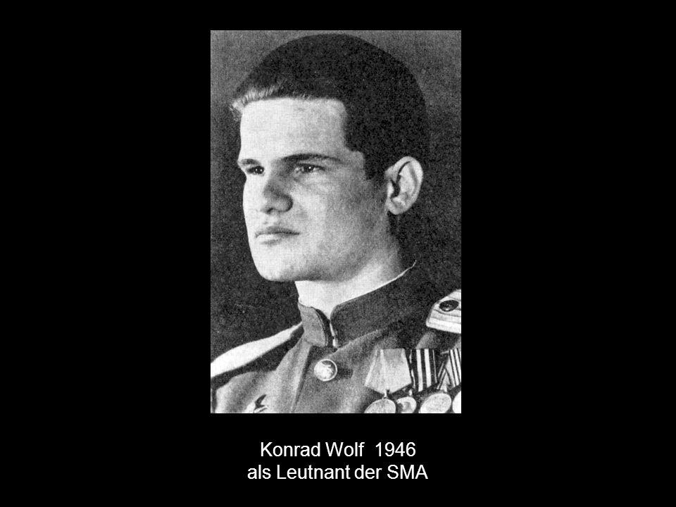Konrad Wolf 1946 als Leutnant der SMA