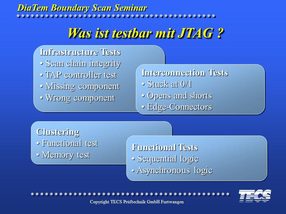 Was ist testbar mit JTAG