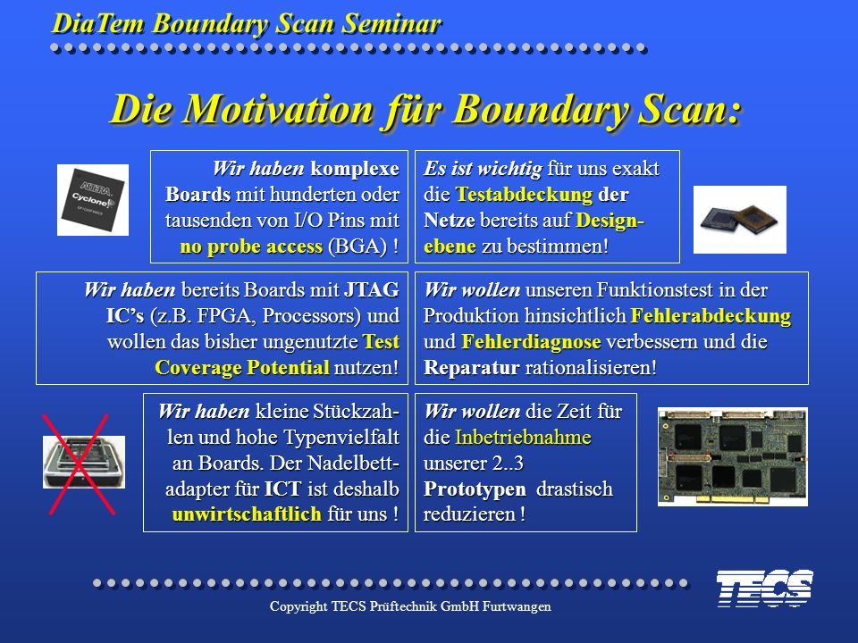 Die Motivation für Boundary Scan: