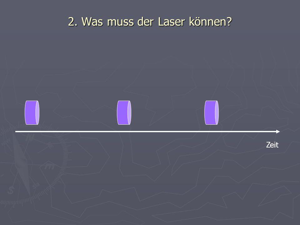 2. Was muss der Laser können