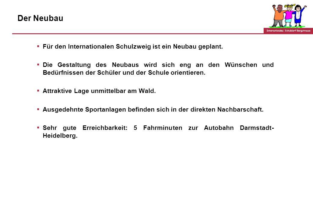 Der Neubau Für den Internationalen Schulzweig ist ein Neubau geplant.