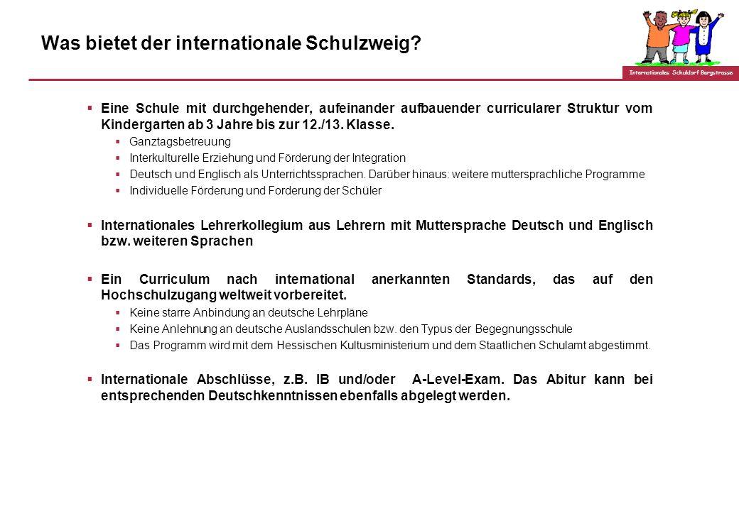 Was bietet der internationale Schulzweig