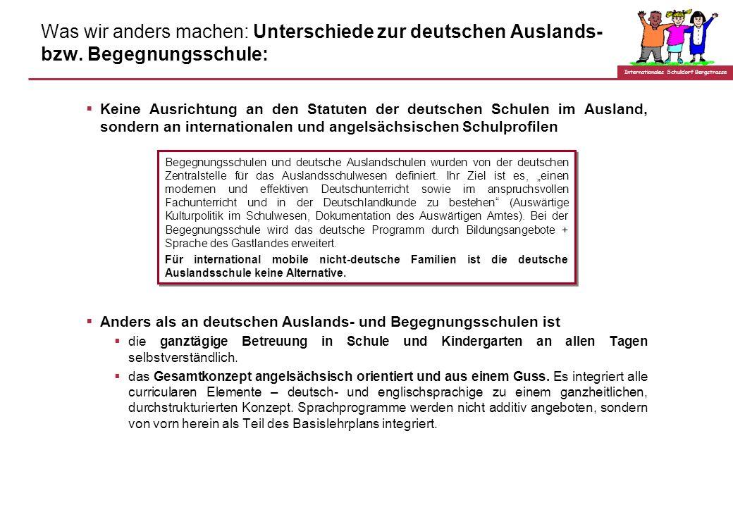 Was wir anders machen: Unterschiede zur deutschen Auslands- bzw