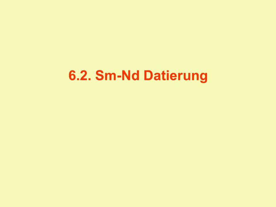 6.2. Sm-Nd Datierung