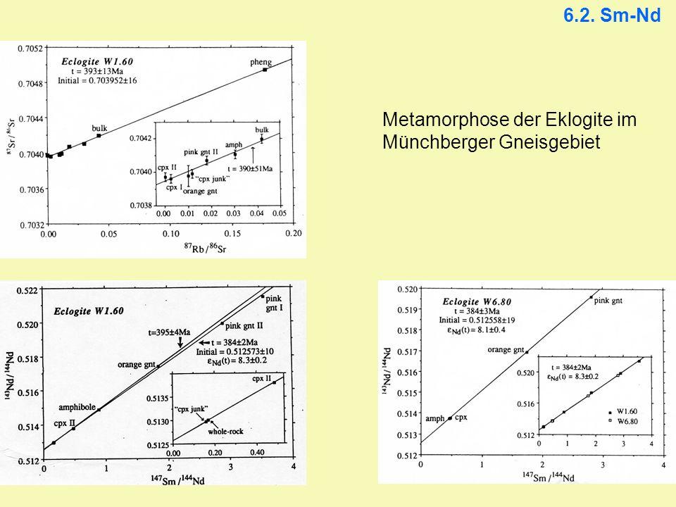 6.2. Sm-Nd Metamorphose der Eklogite im Münchberger Gneisgebiet