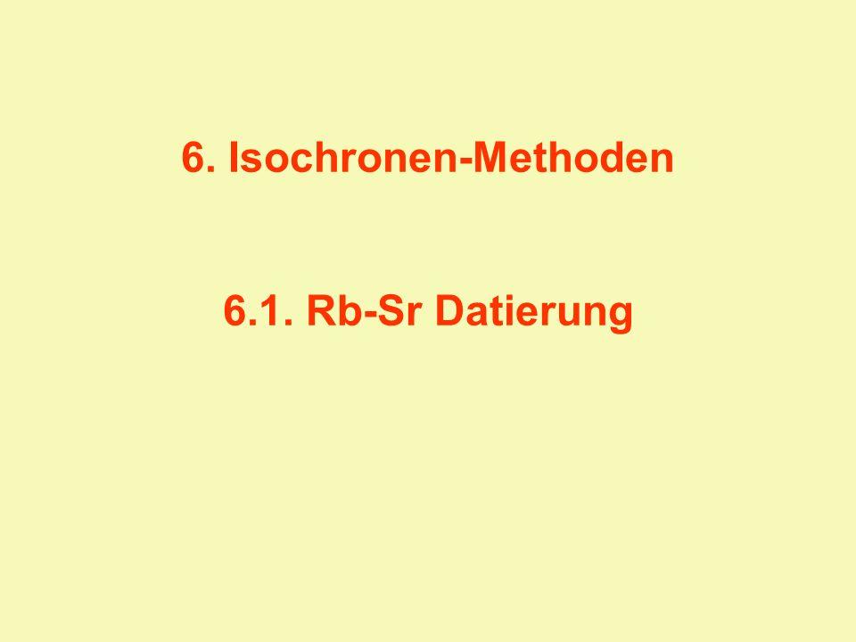 6. Isochronen-Methoden 6.1. Rb-Sr Datierung