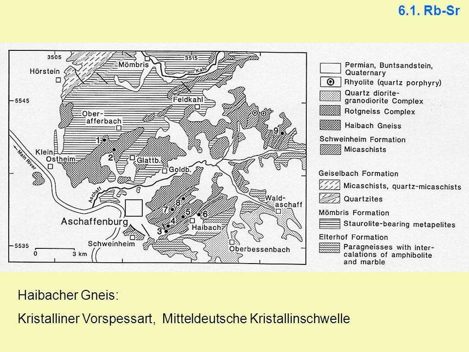 6.1. Rb-Sr Haibacher Gneis: Kristalliner Vorspessart, Mitteldeutsche Kristallinschwelle