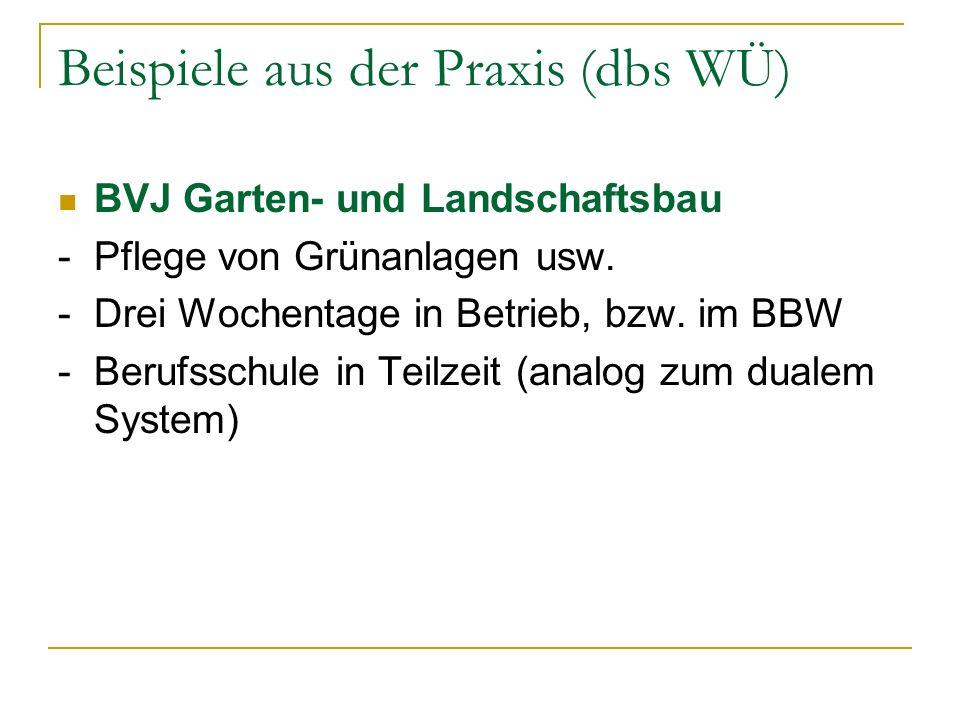 Beispiele aus der Praxis (dbs WÜ)