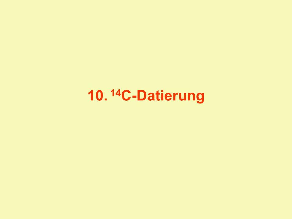 10. 14C-Datierung
