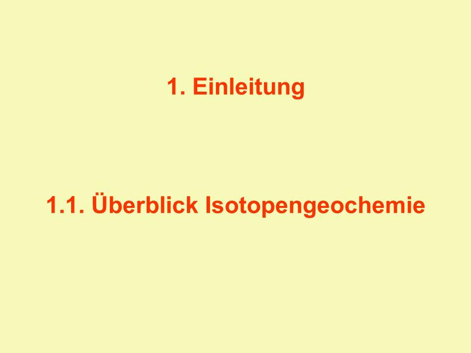 1.1. Überblick Isotopengeochemie