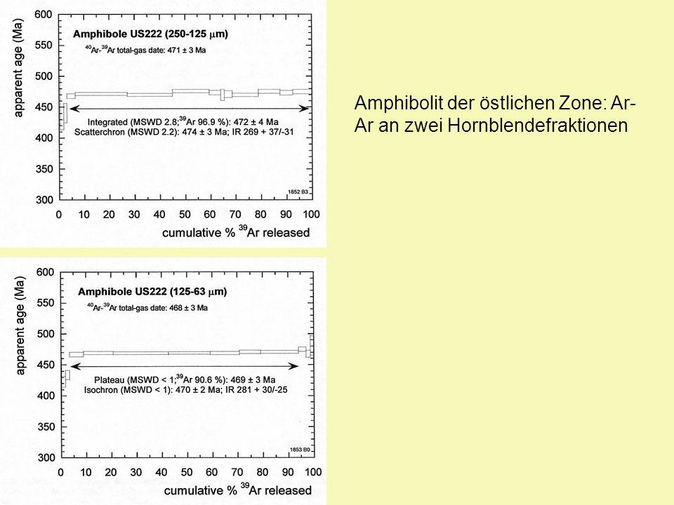 Amphibolit der östlichen Zone: Ar-Ar an zwei Hornblendefraktionen