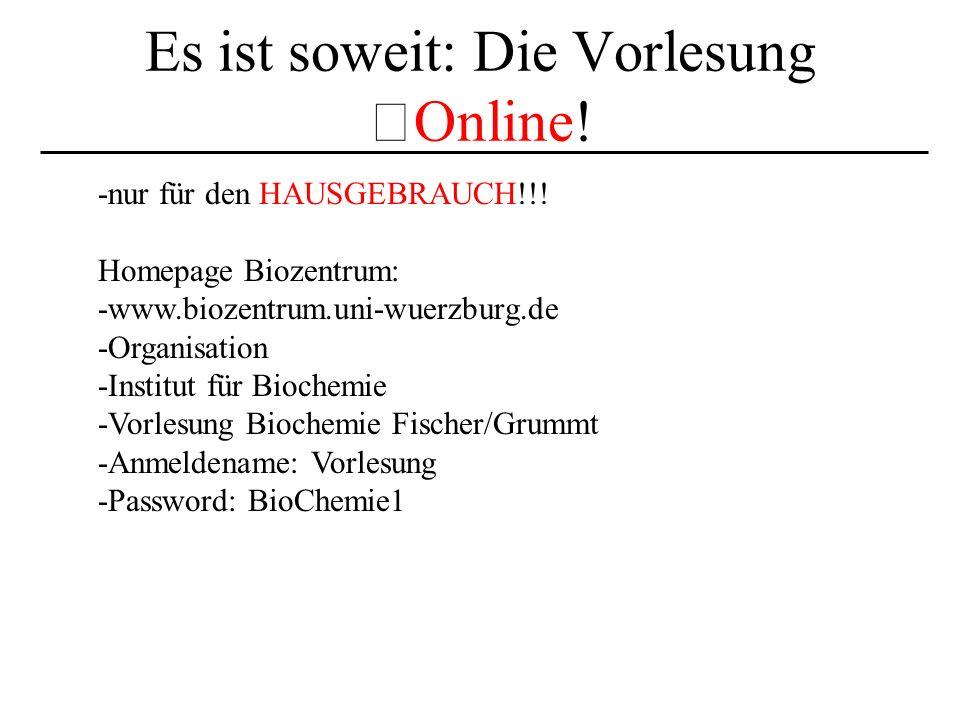 Es ist soweit: Die Vorlesung Online!