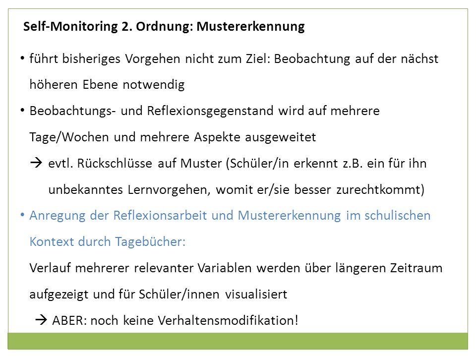Self-Monitoring 2. Ordnung: Mustererkennung