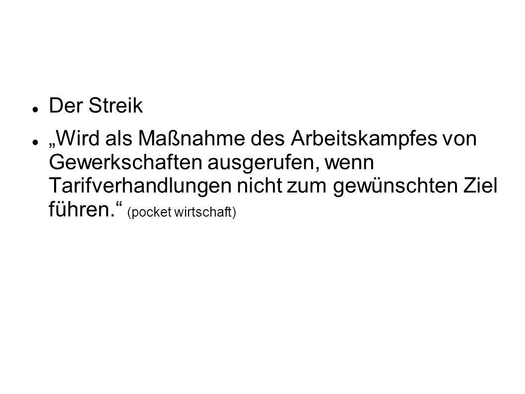 Der Streik