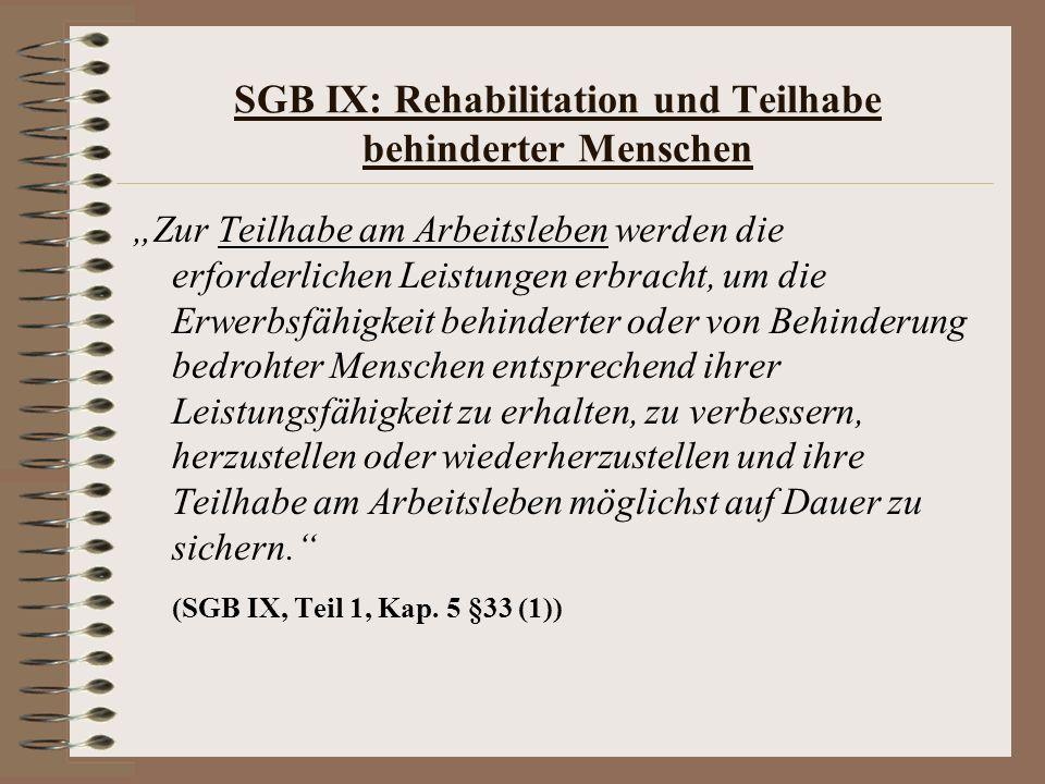 SGB IX: Rehabilitation und Teilhabe behinderter Menschen