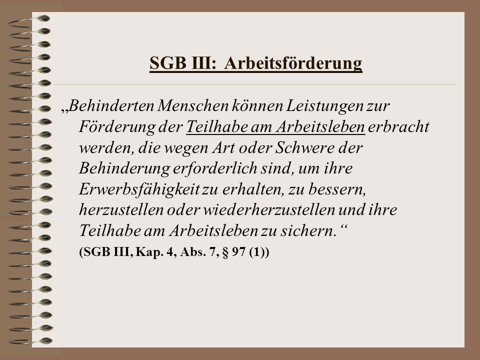 SGB III: Arbeitsförderung