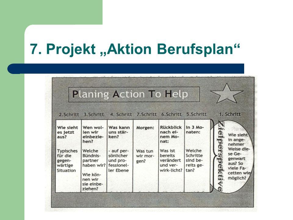 """7. Projekt """"Aktion Berufsplan"""