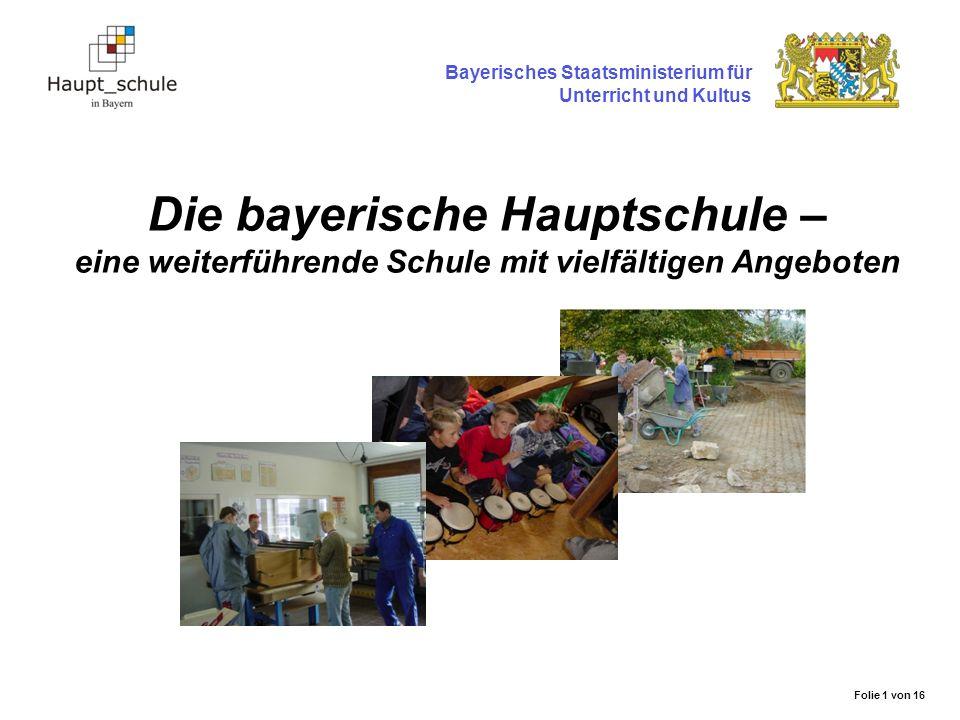 Die bayerische Hauptschule – eine weiterführende Schule mit vielfältigen Angeboten