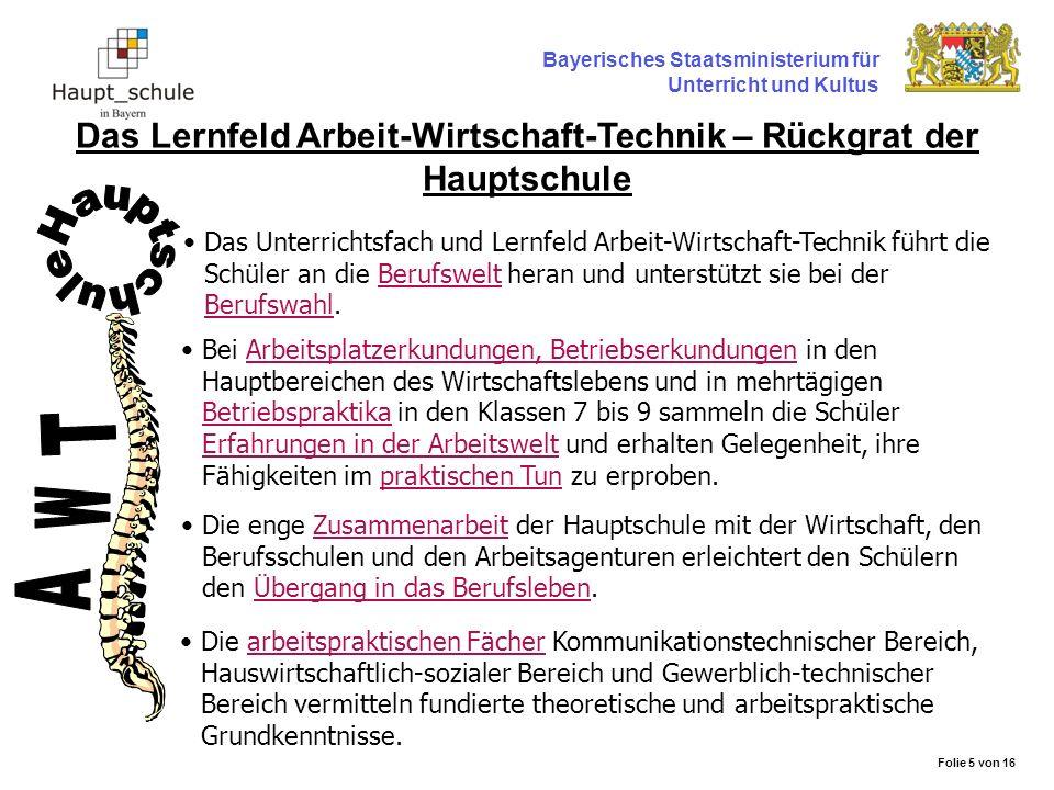 Das Lernfeld Arbeit-Wirtschaft-Technik – Rückgrat der Hauptschule