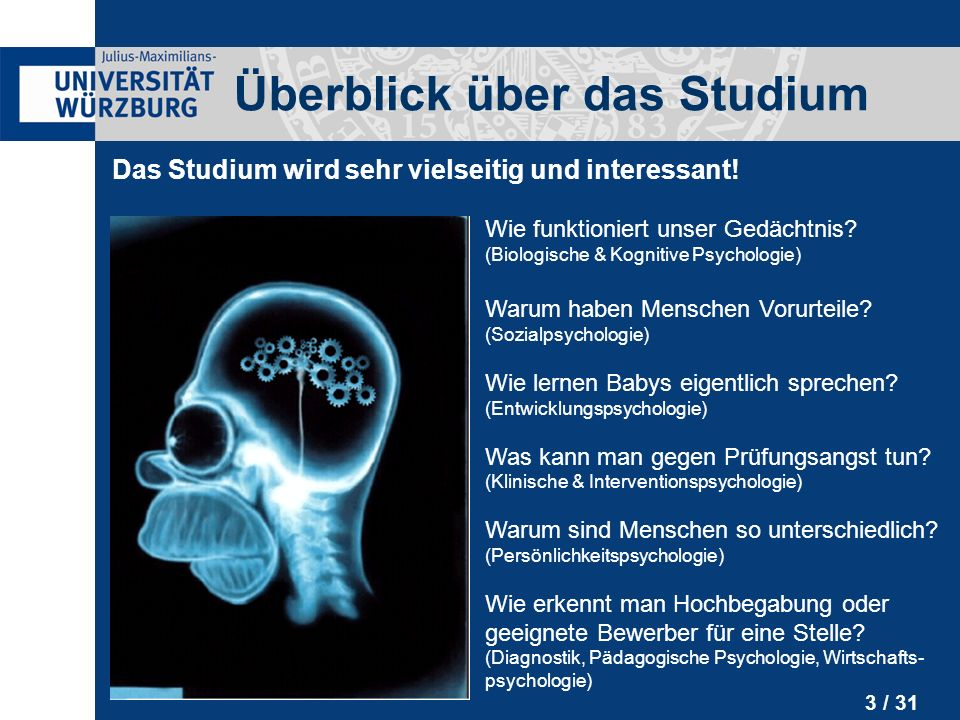 information humanmedizin studium würzburg