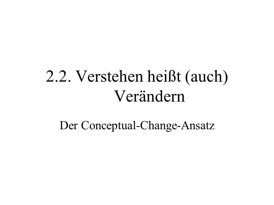 2.2. Verstehen heißt (auch) Verändern